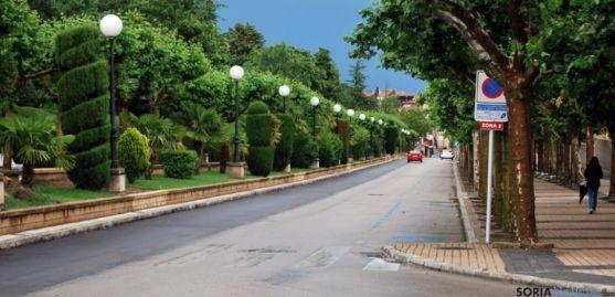 La calle Nicolás Rabal esta tarde. / SN