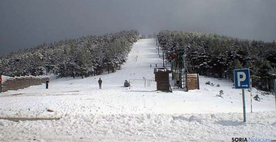 Imagen del punto de nieve de Santa Inés.