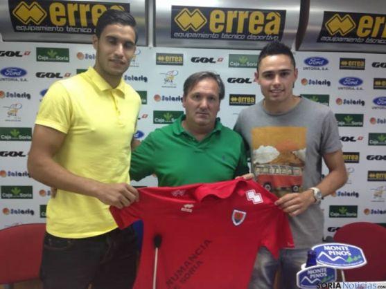 Los nuevos jugadores con Eduardo Rubio