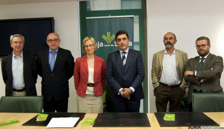 García (izda.), Barca, Fantini, Martínez, González y Gracia. / CR