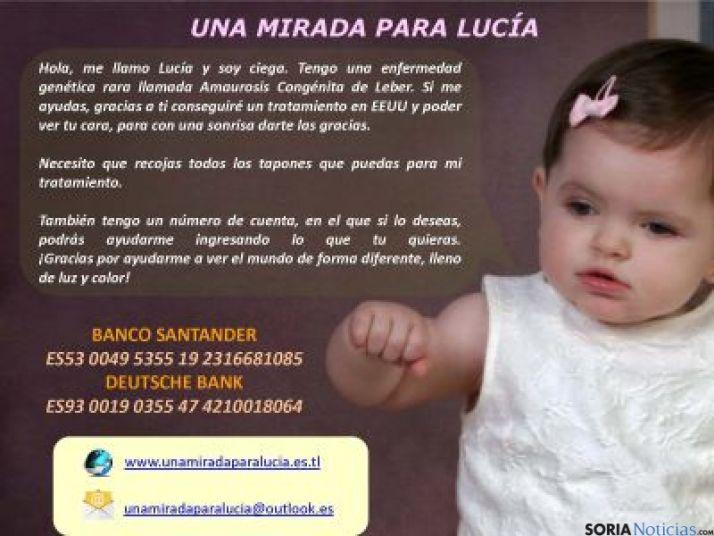 Cartel de la campaña ayuda a Lucía