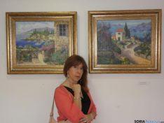 Foto 2 - Begoña García expone parte de su obra pictórica en el Museo de San Leonardo