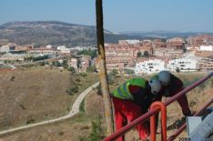 Inician las obras del sendero peatonal entre el río Duero y el parque del Castillo de Soria
