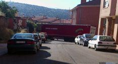 El vehículo entre las dos calles. / SN