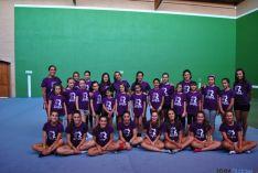 Participantes del campus de gimnasia