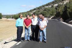 Visita a las obras de las carreteras