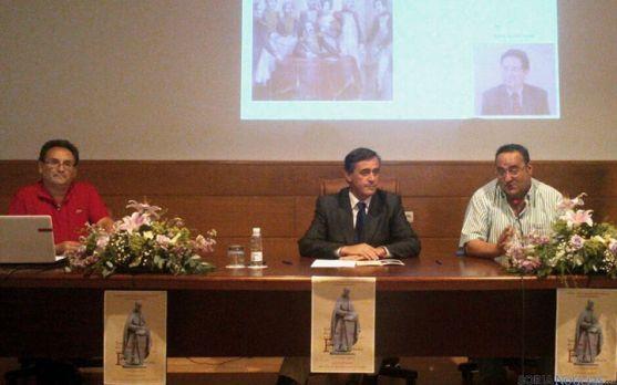 Aguirre (izda), Pardo y Gonzalo, en la apertura del ciclo. / Dip