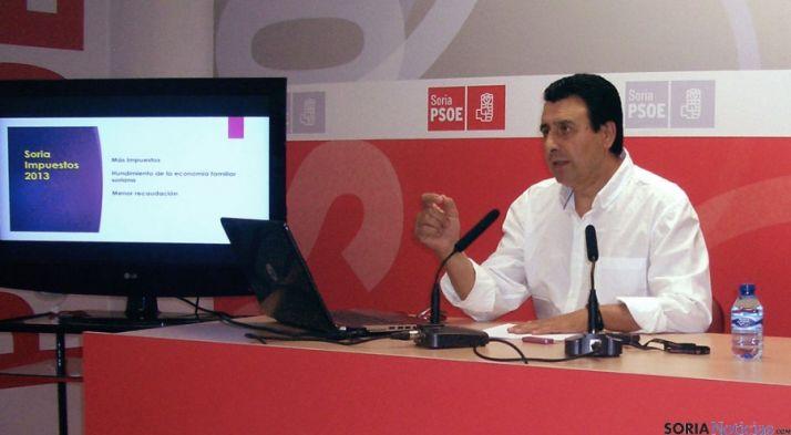 El diputado socialista por Soria Félix Lavilla este miércoles.