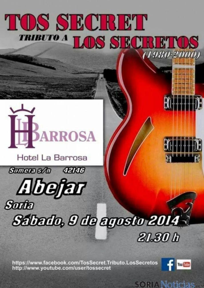Cartel Los Secretos en Hotel La Barrosa