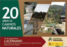 Cartel de 20 años de Caminos Naturales