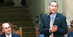 Alberto Blanco, en el homenaje que le rindió Ágreda en mayo pasado. / SN