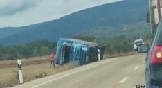 El vehículo, poco después del siniestro. / @42radares