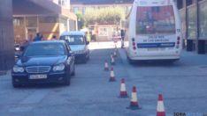 Tráfico por el centro de Soria