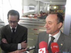 El director de Agrarias y el Rector de la UVa.