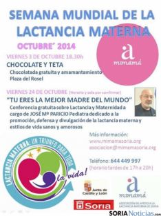 Cartel de la Semana Mundial de la Lactancia Materna