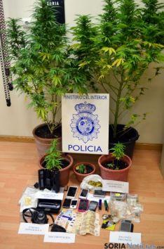 El alijo incautado por la Policía Nacional. / Subdelegación
