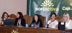Mesa de ponentes este mediodía en el foro Soriactiva. / SN