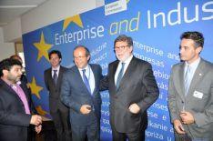 Santiago Aparicio con Daniel Calleja, en Bruselas