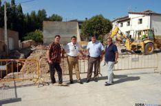 Pardo visita obras en Aguaviva de la Vega