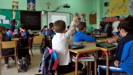 Alumnos de Escolapias en una clase. / SN