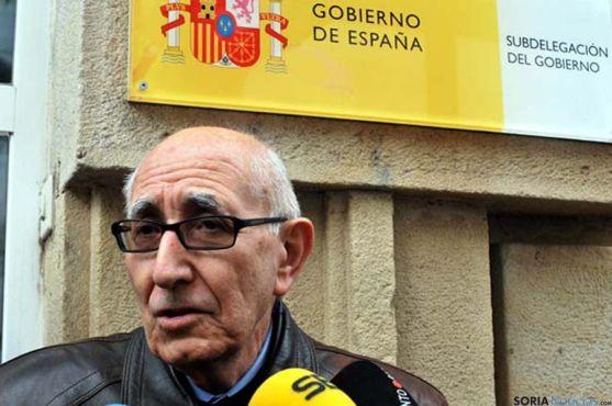 Goyo Alonso, portavoz de la plataforma Soria Ya. / SN