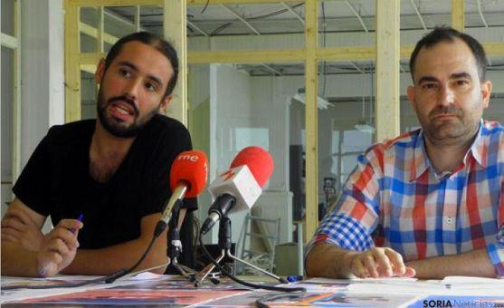 Hernández y Bonilla en la presentación de la Antena. / SN