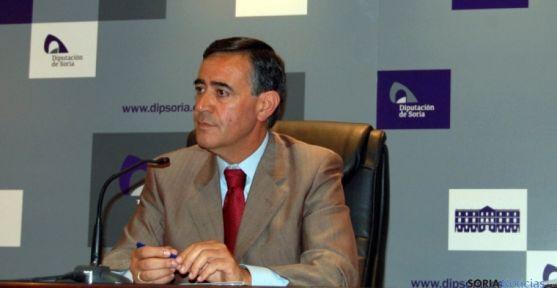 El presidente de la Diputación, Antonio Pardo, este martes. / Dip