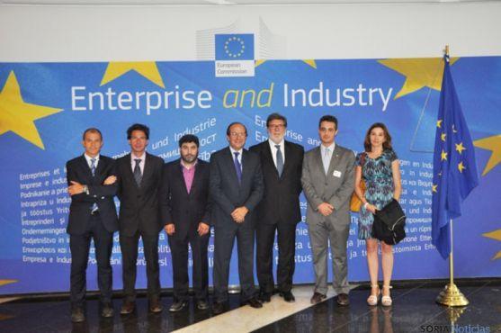 Representantes de los empresarios de Soria, Cuenca y Teruel, en Bruselas