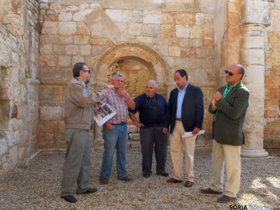Visita a las obras de la ermita de Alcozar
