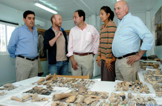 Objetos encontrados en la excavación