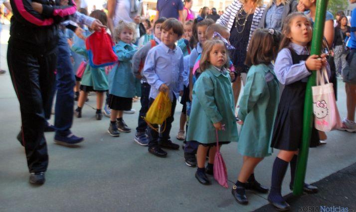 Niños de Infantil hoy en Escolapias. / SN