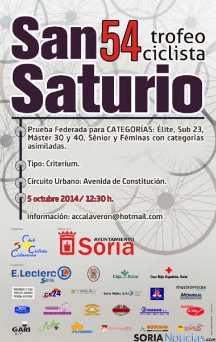 Cartel del 54º Trofeo San Saturio de Ciclismo