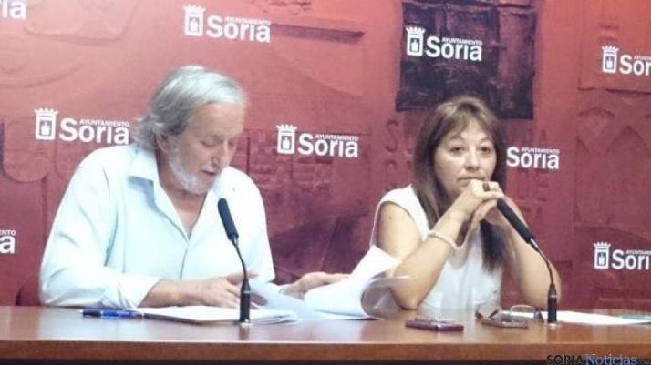 Los concejales Jesús Bárez y Lourdes Andrés