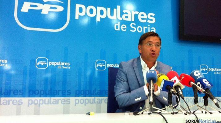 Gerardo Martínez, este jueves en rueda de prensa.