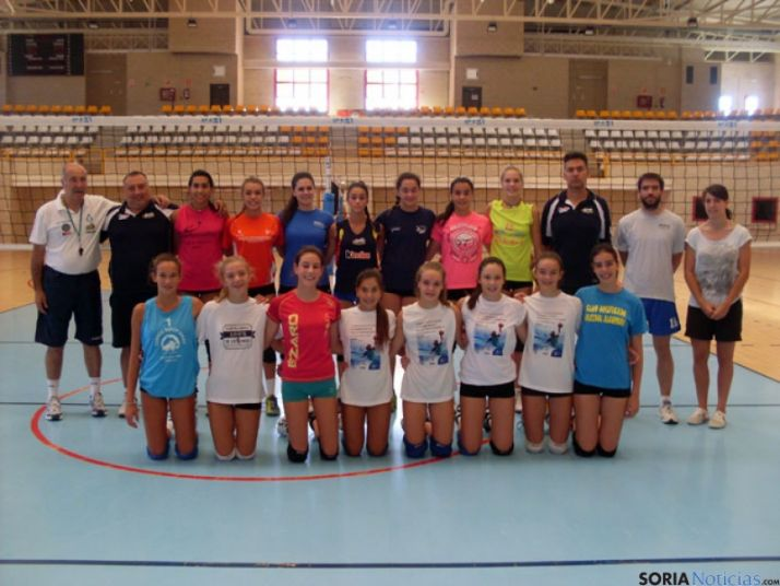 Jugadoras concentradas en Soria