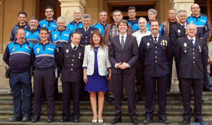 Policías condecorados en la fiesta de San Miguel
