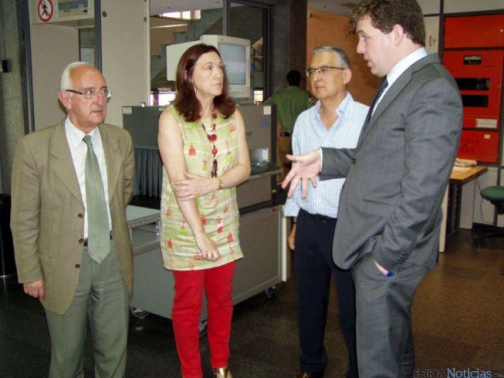 La subdelegada visita la Tesorería y el INSS