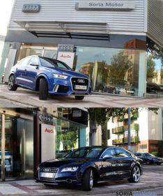 Los dos modelos, en Soria Motor. / SN