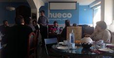 Desayuno de trabajo hoy en El Hueco. / SN
