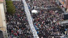 Imagen de los fieles en la eucaristía este miércoles en Ávila. / avilared.com