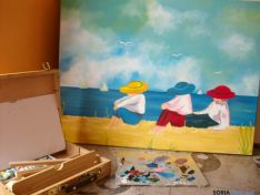 Pinturas en la exposición