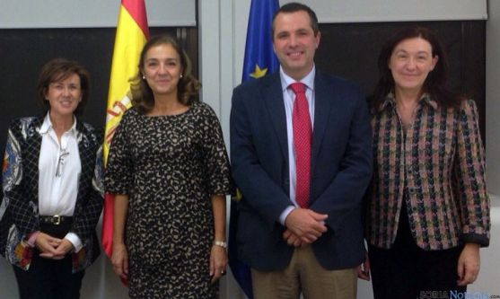 Angulo (izda.), Vela, Bonilla y Heredia.