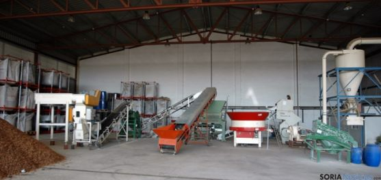 Actual planta de pretratamiento de biomasa en el Céder.