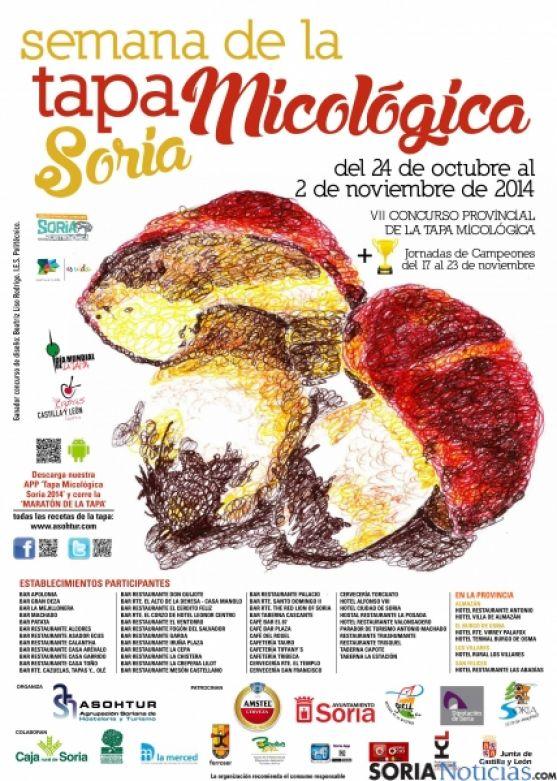 Cartel oficial de la edición de la Semana Micológica.