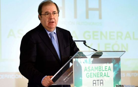 Herrera, en la asamblea de ATA este miércoles. / Jta.