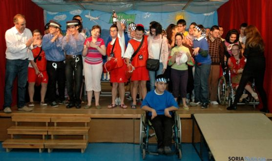 Representación de los alumnos de Sta Isabel
