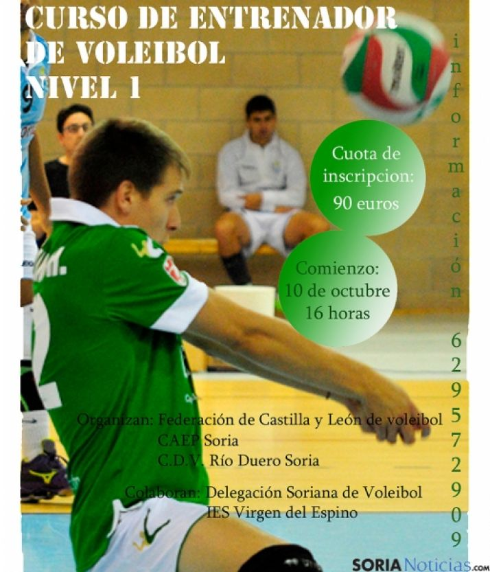 El voley, deporte creciente en Soria.