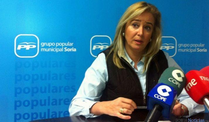 La concejal popular María José Fuentes.