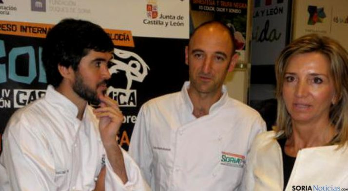 Oscar García, Luis M.Bartolomé y la Consejera Alicia García