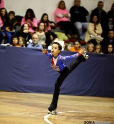 El patinador, en su actuación este domingo. / SN